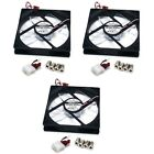 3x 120mm PC Case Cooling Fan Chassis Cooler IDE 3 4 Pins Magnetic Enermax