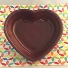 Fiestaware Claret Small Heart Bowl Fiesta Retired Burgundy 9 oz Candy Dish