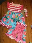 Boutique 3 piece Outfit 5 6T New In Package
