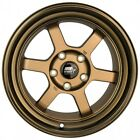 MST Wheels Time Attack Rims 16x8 +20 Bronze 5x1143 Stance 06 Acura RSX Type S