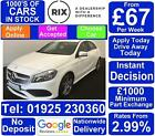 2017 WHITE MERCEDES A160 16 AMG LINE PETROL MANUAL HATCH CAR FINANCE FR 67 PW