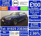 2016 BLUE AUDI S5 30 TFSI QUATTRO BLACK EDITION COUPE CAR FINANCE FR 100 PW