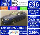 2015 BLUE AUDI S5 SPORTBACK 30 TFSI QUATTRO BLACK EDITION CAR FINANCE FR 96 PW
