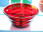 Vintage Hocking Glass Royal Ruby Red Dessert Berry Bowls Whirly Twirly Set of 3