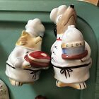 Gorgeous Chef Dogs Salt  Pepper Shakers