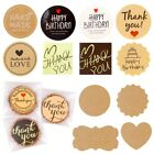 100Pc Round Kraft Paper Label Sticker Handmade Seal Adhesive Packaging Tag Decor