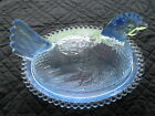 Indiana Glass Light Blue Hen On A Nest with Original box