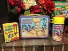 LK Vintage 1970s The Road Runner Lunch Box and Thermos