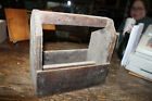 PRIMITIVE WOODEN TOOL BOX TOTE BARN FRESH FIND FARMER approx. 11