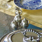 WALKER AND HALL LATE VICTORIAN EDWARDIAN DECO STYLE SILVER CONDIMENT SERVER SET