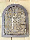 Antique Cast Iron Arch Top Dome scroll Heat Grate Wall Register Vintage 12