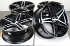 17 Wheels Ford Escort Zx2 Accord Civic CRX Insight Mx 5 Miata Black Rims 4 Lugs