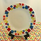 Fiestaware Squares Lunch Plate Fiesta White Exclusive Luncheon Art Deco Border
