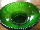 HOOSIER GLASS BOWL; EMERALD GREEN 4054 WITH BEADED  RIM