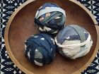 ANTIQUE EARLY PRIMITIVE 19TH C FABRIC HUGE RAG BALLS 1800S CLOTH AUTHENTIC LOT 3