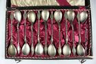 Antique Late 19th or Early 20th Century Swedish Silver Teaspoon Set