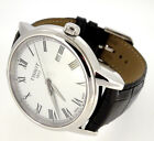 TISSOT MENS T CLASSIC TRADITIONAL WHITE DOA LEATHER BAND T085410A   CT