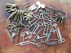 LOT OF OLD KEYS. SKELETON, FLAT, MISC. VARIOUS METALS. 77 PIECES.