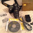 Nikon D80 Digital Camera Comes With Items Pictured