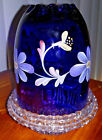 Fenton Purple Handpainted Fairy Glass Lamp Light