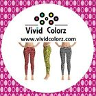 Vivid Leggingz Abstract camo inspired leggings, red,  yellow, gray