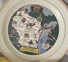 Homer Laughlin Wisconsin Plate 1950 State Plate Souvenir Mid Century