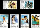 1989 LAOS STAMP OLYMPIC BARCELONA 1992 SPAIN - boks ,cucling CTO
