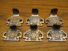 6 OLD BRASS ? BRONZE WINDOW SASH LIFT... .APPOTHECARY DRAWER PULLS ORNATE