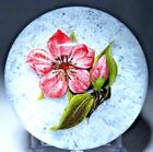 Large STUNNING Victor TRABUCCO LILY Over WHITE Ground Art Glass PAPERWEIGHT