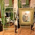 Antique Victorian Bent Wood Stick And Ball Art Display Easel Shabby