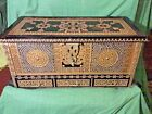 Brass Nail Middle Eastern Dowry Chest Excellent!