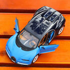 1 24th Diecast Blue Bugatti Sports Car Vehicles Model Toys F Gift Collection