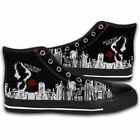 Hollywood Undead Logo Mens Shoes Canvas High Top Lightweight Fashion Sneakers