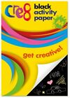 A4 Black Activity Paper Get Creative 60 Sheets Art & Craft High Quality Paper
