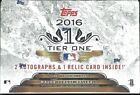 2016 Topps Tier One Factory Sealed Baseball Hobby Box Mike Trout AUTO ??