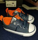 Toddler Converse Shoes Canvas Sneakers Street slip Navy Orange New 747683F sze 6