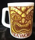 Sea World Coffee Mug Tea Cup Fire King Souvenir Tiki Vintage Milk Glass