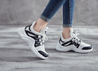 Womens Chunky Trainer Breathable Sneakers Casual Lace Up Athletic Mesh Dad Shoes