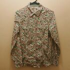 OLD NAVY Womens Peal Snap Button Down Blouse Top Medium Cotton Floral U16