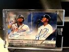 2018 Topps NOW Ronald Acuna Ozzie Albies Dual On Card Auto RC # 627B 9 49!!!