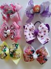 Set of 6 Small hair bows Baby Toddlers Princesses, Ballerina.Hello Kity,Belle
