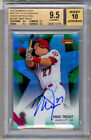 2015 Bowman's Best Green Refractor MIKE TROUT Autograph Auto 54 99 BGS 9.5 10 !!