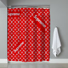 "Famous LV1854Suprame Pattern Custom Fashion Print Shower Curtain Size 60"" x 72"""