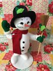 "Annalee Doll 15"" Holly Berry SNOWMAN ~ Christmas Decoration~ NWT"