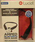 Lucid Audio AMPED HearBand Sound Amplifying Bluetooth Neckband Earbud HeadphoNEW