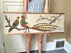 Vtg Mosaic Tile Wall Hanging Retro Art Mid Century Modern Tropical Sculpture