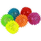 Pet Dog Puppy LED Light Up Flashing Play Toy Chasing Rubber Spiky Ball CA Good