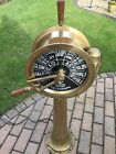 IMPRESSIVE BRASS SHIPS ENGINE TELEGRAPHS TWO ENGINES REPRODUCTION