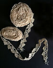 Vintage Lace Trim Antique Crochet Edging 2 sections total 7 yards