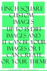 Customized Square Images 15 1 Precut Scrabble Your Ideas Your PHOTOS magnets